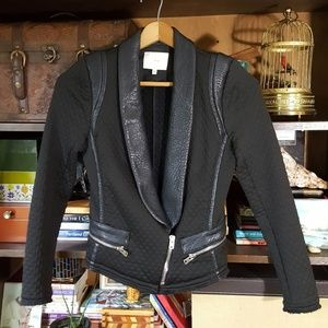 Iro Ashby leather trim moto jacket avant Garde